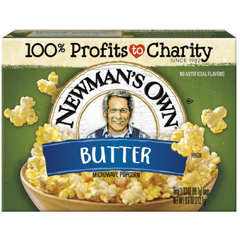 Popcorn, Newman's Microwave Buttered 3/3.5 Oz.