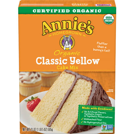 Cake Mix, Annie's Organic Yellow 21 Oz.