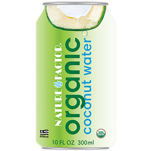 Coconut Water, Nature Factor Organic 10.1 Oz.