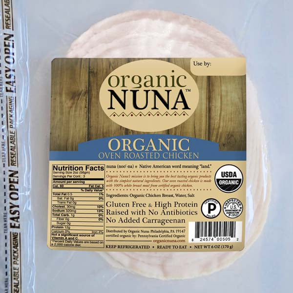 Deli Meat, Nuna Organic Chicken 6 Oz.