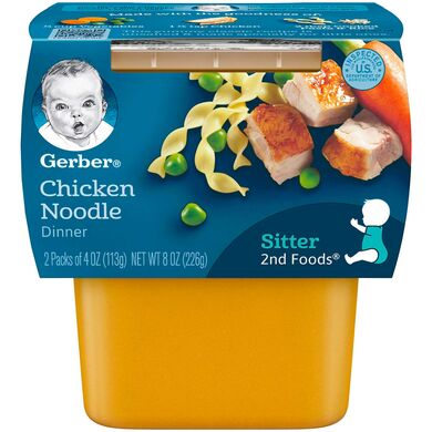 Baby Food, Gerber Chicken Noodle 2 Pk. 4 Oz.