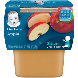 Baby Food, Gerber Apple 2 Pk. 4 Oz.