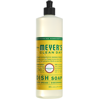Dish Soap, Mrs. Meyers Honeysuckle 16 Oz.