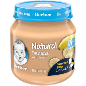 Baby Food, Gerber Banana 4 Oz.