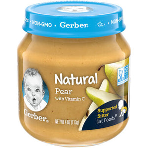 Baby Food, Gerber Pear 4 Oz.