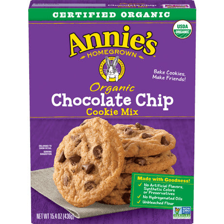 Cookie Mix, Annie's Organic Chocolate Chip 15.4 Oz.