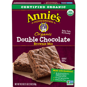 Brownie Mix, Annie's Organic Double Chocolate 15.4 Oz.