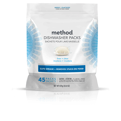 Dishwasher Soap, Method Free & Clear 45 Pods