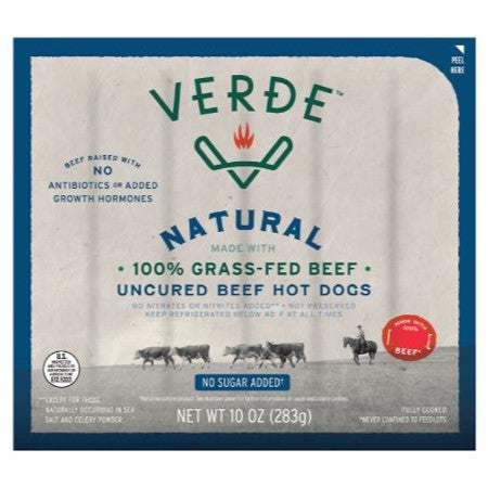 Hot Dogs, Verde Grass Fed 10 Oz. Frozen
