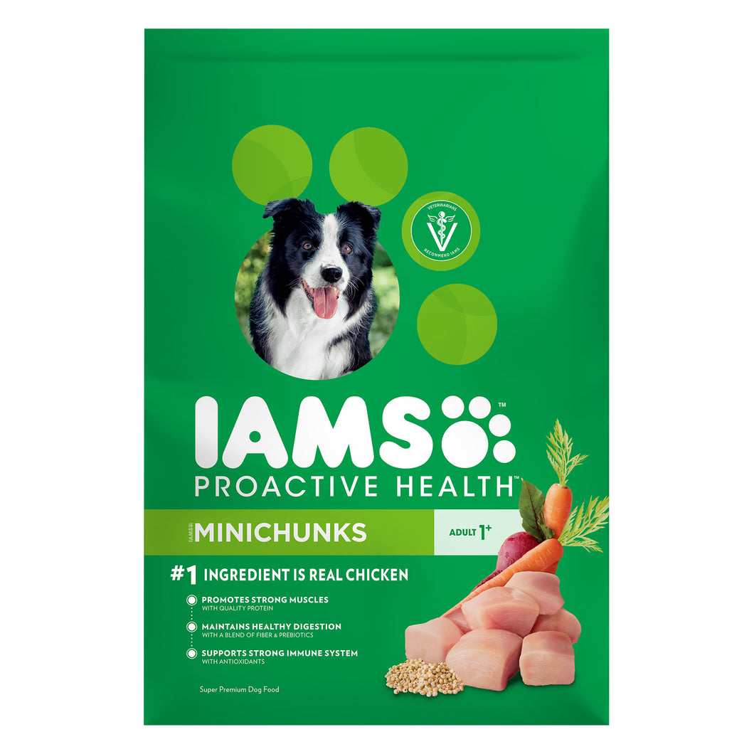 Dog Food, Iams Proactive Health Adult Minichunks 3.3 Lbs.