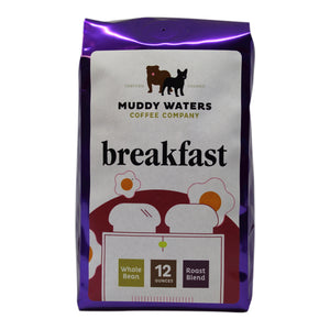 Coffee Beans, Muddy Waters Organic Breakfast 12 Oz.