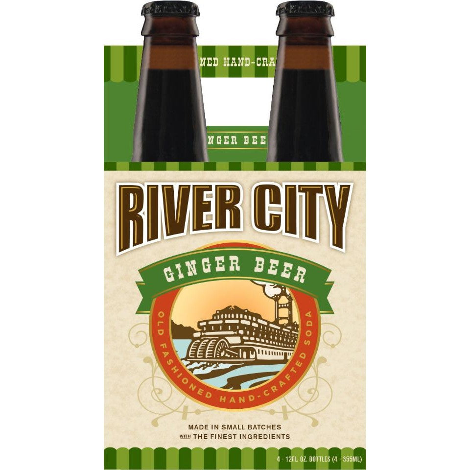 Soda, River City Craft Ginger Beer 4 Pk.