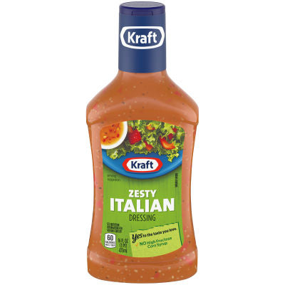 Dressing, Kraft Zesty Italian 16 Oz.