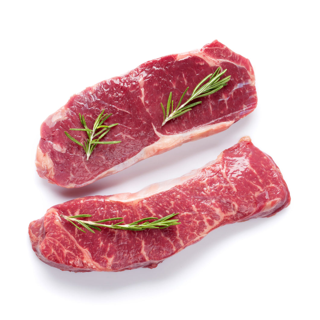 Beef, NY Strip Steak USDA Choice 2/8 Oz.