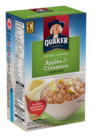 Oatmeal, Quaker Apples & Cinnamon 10/1.5 Oz.