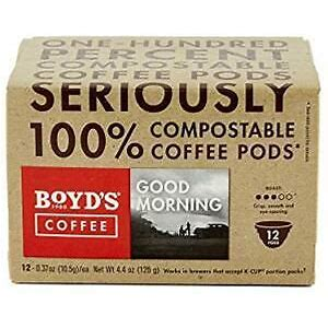 Coffee Pods, Boyd's Single Pods 12 ct.