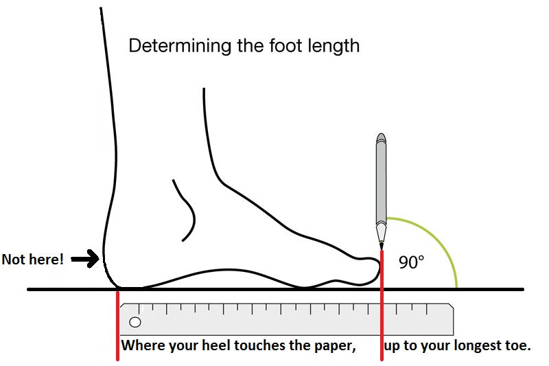 Bummel Shoes Size Guide - Foot Length