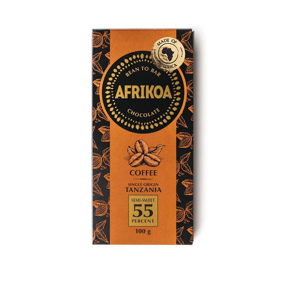 Afrikoa 55% Dark Chocolate with Coffee 100g food Afrikoa
