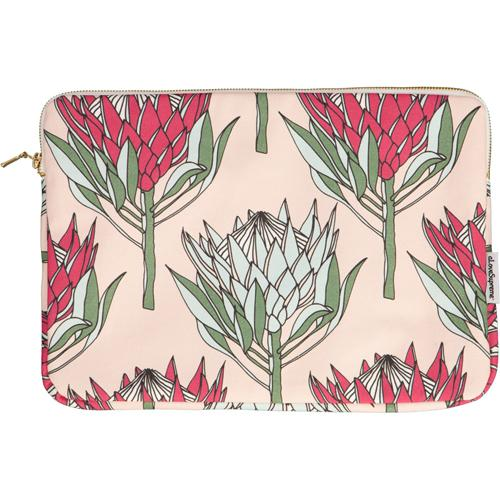"aLoveSupreme Laptop Sleeves with Proteas stationery aLoveSupreme 13"" pink king protea on pink"