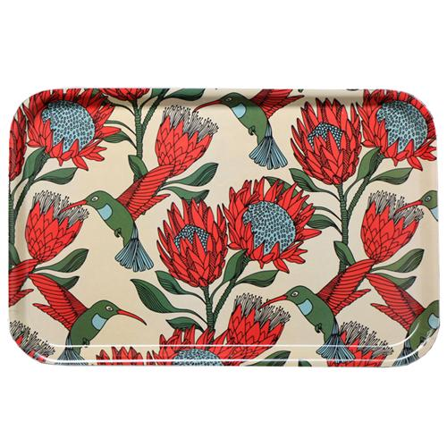 aLoveSupreme Melamine Dinner Trays with Proteas home & decor aLoveSupreme cream