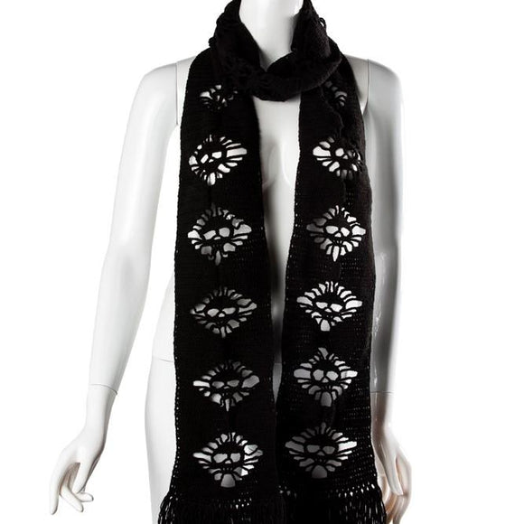 Black Velvet Fashions Accents Black Lucia Skull Scarf clothing & accessories Black Velvet Fashions