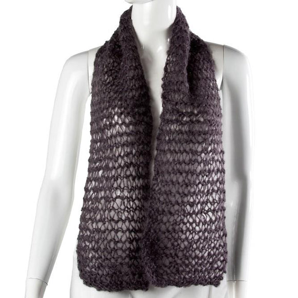 Black Velvet Fashions Accents Eden Mohair Scarves clothing & accessories Black Velvet Fashions grey