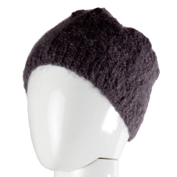 Black Velvet Fashions Accents Rachel Mohair Beanies clothing & accessories Black Velvet Fashions grey