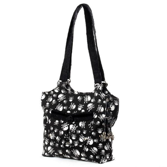 Black Velvet Fashions Black Ava Rose Handbag clothing & accessories Black Velvet Fashions