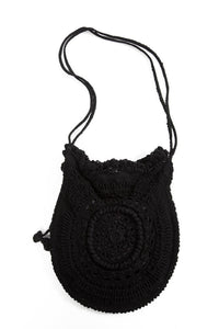 Black Velvet Fashions Black Faith Rose Handbag clothing & accessories Black Velvet Fashions