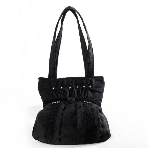 Black Velvet Fashions Black Harlow Rose Handbag clothing & accessories Black Velvet Fashions