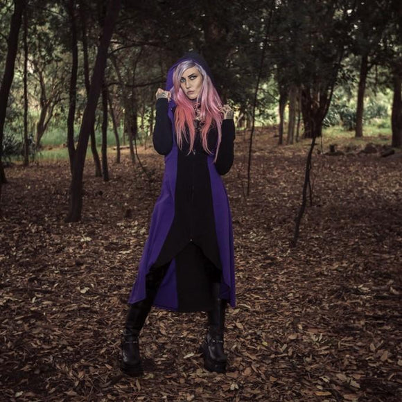 Black Velvet Fashions Black & Purple Gothic Kaliope Jacket clothing & accessories Black Velvet Fashions