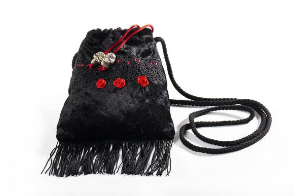 Black Velvet Fashions Jade Rose Handbag clothing & accessories Black Velvet Fashions