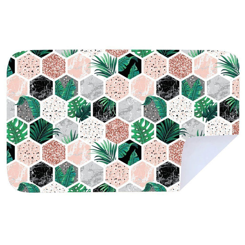 Bobums Abstract/Pattern Microfibre Towels clothing & accessories Bobums hexagon fern XL - 160cm x 100cm