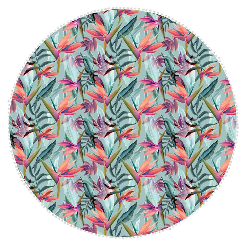 Bobums Botanical Round Microfibre Towels clothing & accessories Bobums strelizia 155cm round