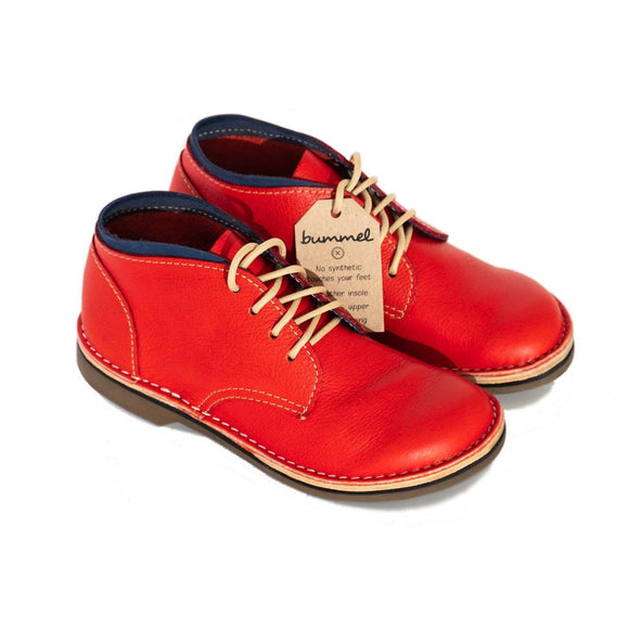Bummel Ashura Milled Red Leather Shoe clothing & accessories Bummel Shoes