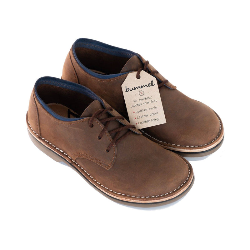 Bummel Azizi Soft Oily Pull Up Brown Leather Shoe clothing & accessories Bummel Shoes