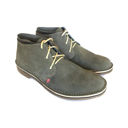 Bummel Zahara Charcoal Suede Leather Shoe clothing & accessories Bummel Shoes