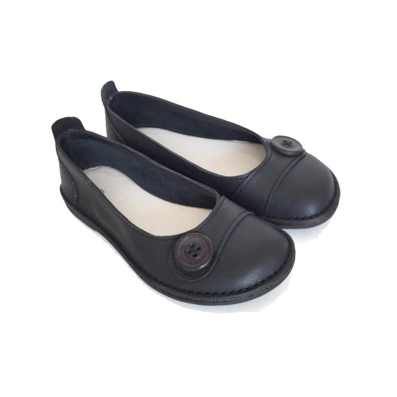Bummel Zuri Button Black clothing & accessories Bummel Shoes