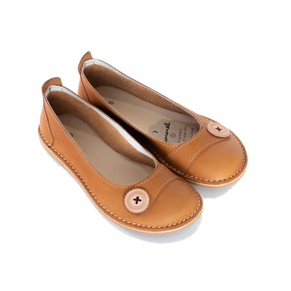 Bummel Zuri Button Tan clothing & accessories Bummel Shoes