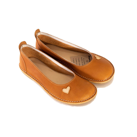 Bummel Zuri Heart Tan clothing & accessories Bummel Shoes