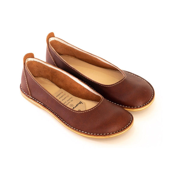 Bummel Zuri Plain Brown clothing & accessories Bummel Shoes
