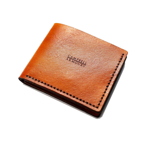 Campbell Armoury Leather Bi-Fold Mens Wallet clothing & accessories Campbell Armoury tan
