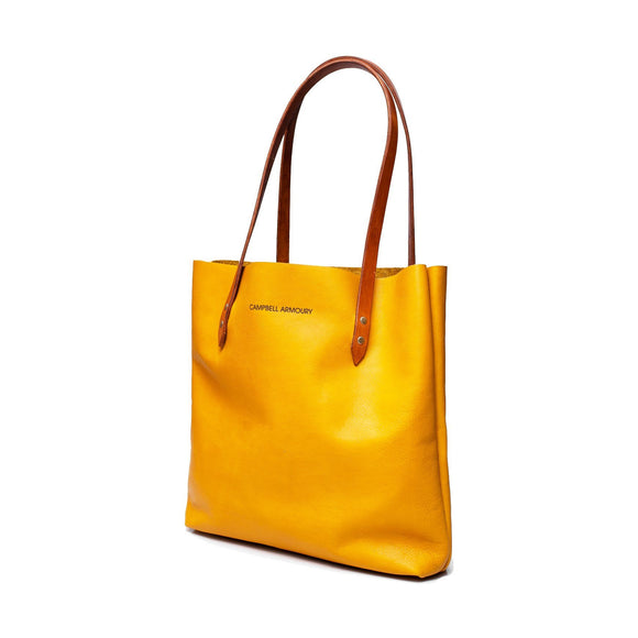 Campbell Armoury Leather Soft Tote Bag clothing & accessories Campbell Armoury mustard
