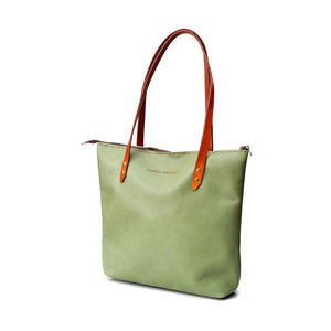 Campbell Armoury Leather Soft Zip Tote Bag clothing & accessories Campbell Armoury mint