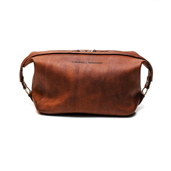 Campbell Armoury Leather Toiletry Bag clothing & accessories Campbell Armoury brown