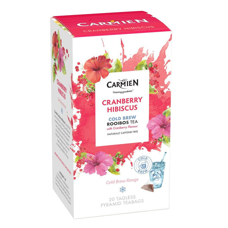Carmién Cranberry Hibiscus Cold Brew Rooibos Tea food Carmién Tea