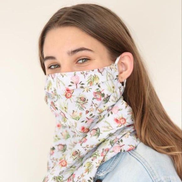 Charmz Blue Proteas Snood Face Mask clothing & accessories Charmz