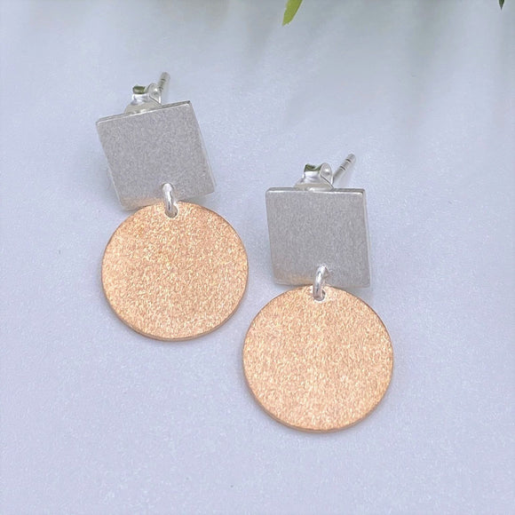 Charmz Jewellery Rose Gold Dangle Earrings clothing & accessories Charmz