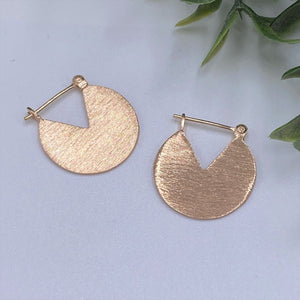 Charmz Jewellery Rose Gold Disc Earrings clothing & accessories Charmz