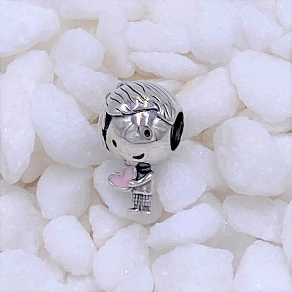 Charmz Jewellery Silver Little Boy Heart Charm clothing & accessories Charmz